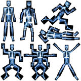 Collection of human skeleton Royalty Free Stock Photo