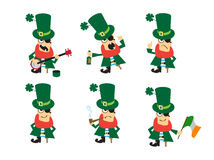 Collection of humor character for Saint Patricks design. Royalty Free Stock Photos