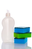 Collection of hygiene cleaners for housework. Cutout Royalty Free Stock Photography