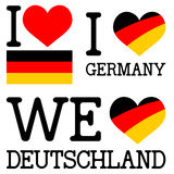 collection I or WE love germany Royalty Free Stock Images
