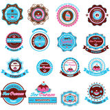 Collection of Ice Cream Design Elements. Stock Photo