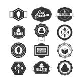 Collection of Ice Cream Design Elements. Royalty Free Stock Image