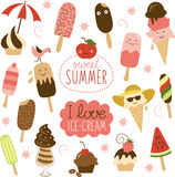 Collection of Ice Cream Stock Image