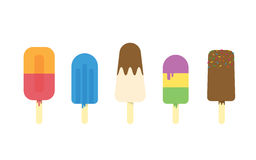 Collection of ice cream Stock Photo