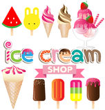 Collection of ice creams  Stock Photography