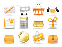 Collection icons Stock Photo