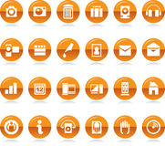 Collection of Icons. Vector illustration of a set of various icons and symbols vector illustration