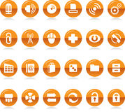 Collection of Icons. Vector illustration of a set of various icons and symbols Royalty Free Stock Image