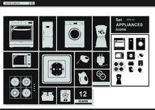Collection icons. Appliances Kitchenware Stock Photo
