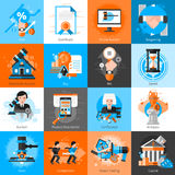 Collection Of Icons For Auction Bargaining Royalty Free Stock Image
