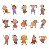 Collection of icons with the children Royalty Free Stock Image