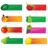 Collection of icons fruits Royalty Free Stock Image
