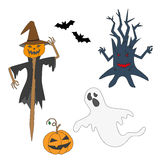Collection icons for halloween. Royalty Free Stock Photos