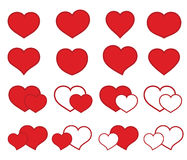 Collection of icons with hearts Stock Photo