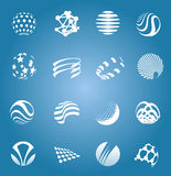 Collection of icons, isolated,  illustration Stock Photo