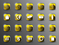Collection of icons with long shadows Stock Image