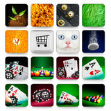 Collection of icons for programs and games Royalty Free Stock Image