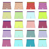 Collection of icons shorts. Raster Royalty Free Stock Photos