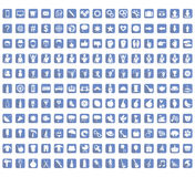 Collection of icons signs and symbols, vector illustration Stock Image
