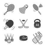 Collection of  icons. Sport equipment. Stock Photos