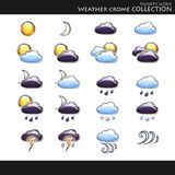 collection icons style weather 库存例证