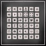 Collection of icons, web design elements Stock Photos