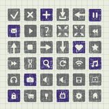 Collection of icons web design elements Royalty Free Stock Photography