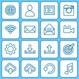Collection icons for web and mobile apps. Stock Photography