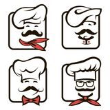 Chef icons set Royalty Free Stock Images