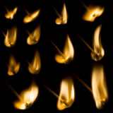 Collection of igniting Matches Royalty Free Stock Image