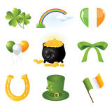 Collection of illustration of Saint Patrick's day Stock Photography