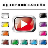 Collection of illustration shiny and glossy button Stock Photos