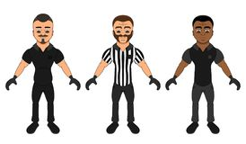 Cartoon referees - a collection vector illustration
