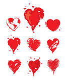 Collection  illustrations -- heart Stock Images