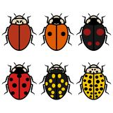 Ladybugs logos symbols icons signs set royalty free illustration