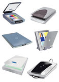 Collection of image scanners Royalty Free Stock Images