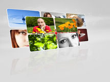 Collection of images. On gray background Stock Photo