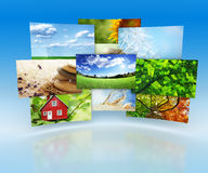 Collection of images Royalty Free Stock Photo