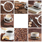 Collection of images coffee. Stock Images