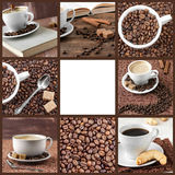 Collection of images of coffee. Royalty Free Stock Images