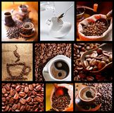 Collection of images with coffee. Royalty Free Stock Photos