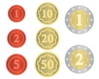 Collection imaginaire de pièces de monnaie Images libres de droits