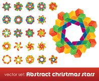 Collection of impossible christmas snowflakes. Vector illustration Royalty Free Stock Image