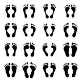 The collection of a imprint soles shoes Stock Photo
