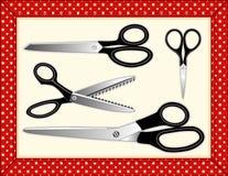 collection includes scissors seamless tile Стоковые Фотографии RF