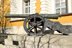 Collection incorporates old Russian cannons of XVI-XVII centuries Stock Photos