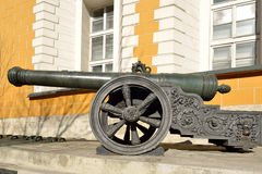 Collection incorporates old Russian cannons of XVI-XVII centuries Stock Images