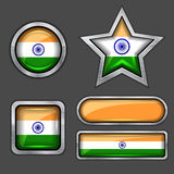 Collection of india flag icons Stock Images