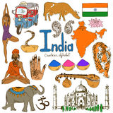 Collection of India icons Stock Photos