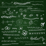 Collection of individual hand drawn elements Stock Image